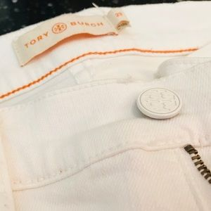 Tory Burch White Boot Cut Jeans